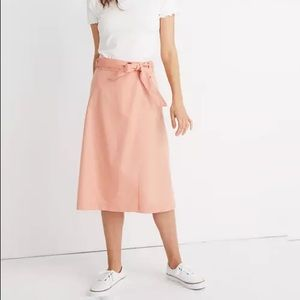 Madewell Belted Wrap Midi Skirt L3475